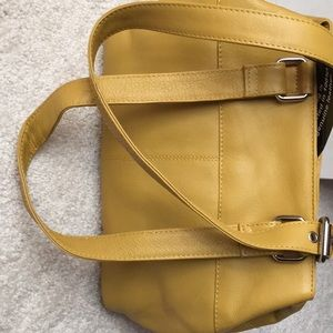 Great American leather works mustard purse